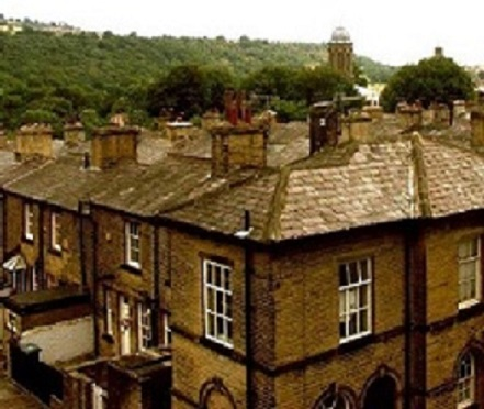 Saltaire house roof tops