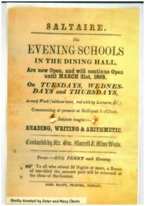 Notice for the earliest schools in the Dining Hall
