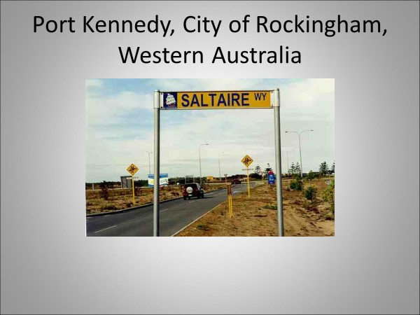 Road Sign For Saltaire Way, Rockingham Western Australia