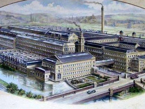 Drawing Of Salts Mill From Around 1920
