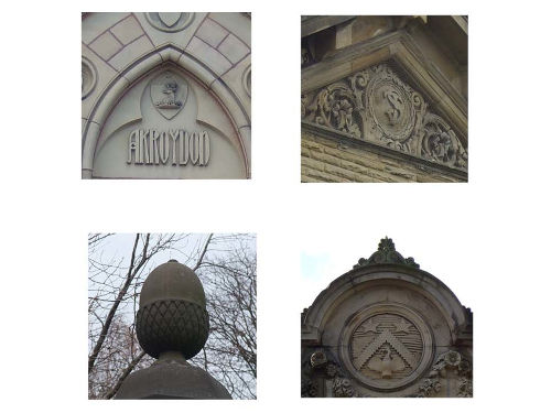 Composite Image Of Architectural Features From Akroydon And Saltaire